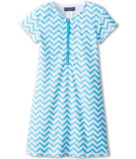 Toobydoo Dress Rash Guard Chevron Girls Swimwear (Blue)