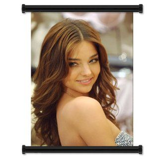 "Miranda Kerr Sexy HOT Fabric Wall Scroll Poster (16"" x 22"") Inches : Prints : Everything Else"