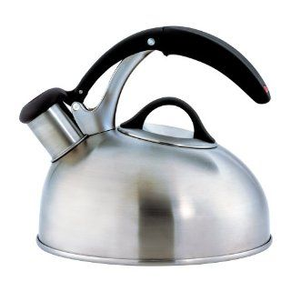 SoftWorks Brushed Stainless Tea Kettle: Teakettles: Kitchen & Dining
