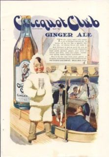 Clicquot Club Ginger Ale eskimo & sailors ad 1920: Entertainment Collectibles