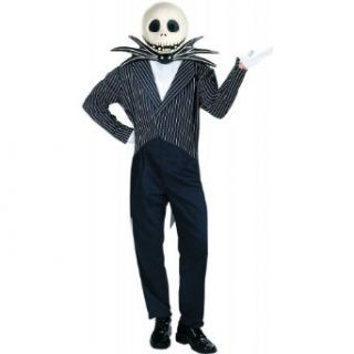 Jack Skellington Deluxe Costume   X Large   Chest Size 42 46: Clothing