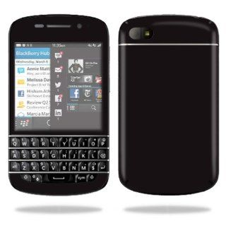MightySkins Protective Vinyl Skin Decal Cover for BlackBerry Q10 Cell Phone SQN100 3 Sticker Skins Glossy Black: Computers & Accessories