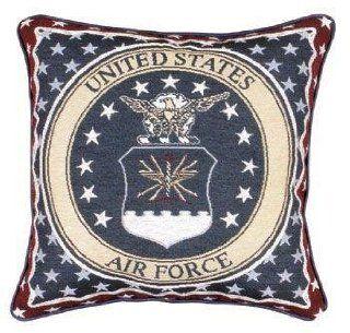 "U.S. Air Force Insignia Theme Decorative Throw Pillow 12"" x 12"""