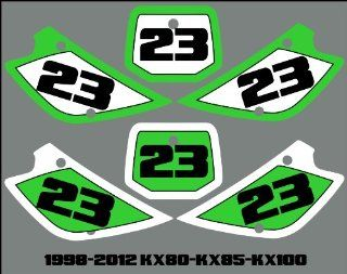 Kawasaki 98 12 KX85 Number Plate Backgrounds Graphics Decals Stickers MX xPlastis kx 85  Other Products