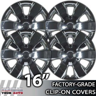2007 2008 Toyota Camry 16 Inch Chrome Clip On Hubcap Covers: Automotive