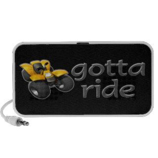 ATV Four Wheeling Gotta Ride Yellow  Speaker