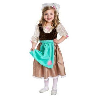 Little Adventures Cinderella Day Dress w/ Head Scarf M