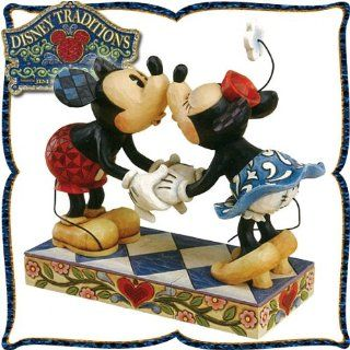 "Kissing Minnie Mouse and wood carving like figure Mickey Mouse ""kiss of Mickey and Minnie"" to (make sure love to kiss) Smooch For My Sweet(japan import): Toys & Games"