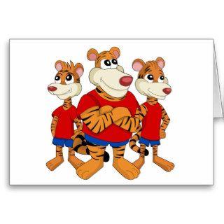 Tigers cartoon greeting card