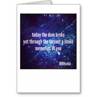 Dementia Journey Card: Today The Dam Broke