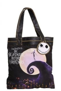 Loungefly   Nightmare Before Christmas Jack Skellington Moon Tote Bag: Clothing