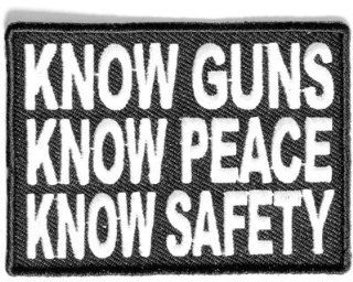 Know Guns Know Peace Know Safety NRA Gun Funny Motorcycle Biker Patch PAT 2491: Everything Else