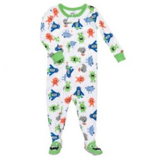 "Carter's Baby Boys One Piece Cotton Knit Footed Sleeper Pajamas ""Happy Aliens"" (12 Months) Infant And Toddler Bodysuit Footies Clothing"