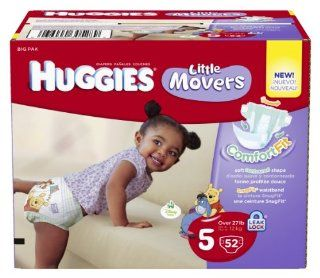 Huggies Little Movers Diapers, Size 5, Big Pack, 52 Count (packaging may vary) Health & Personal Care