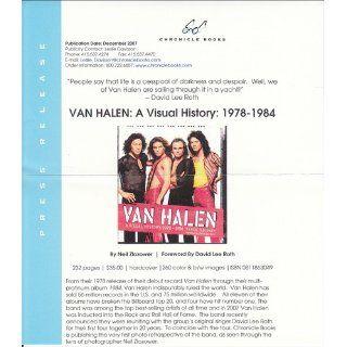 Van Halen A Visual History 1978?1984 Neil Zlozower, David Lee Roth 9780811863049 Books