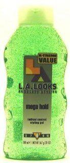 LA LOOKS #8 Gel Mega Hold 16 oz. (Green) (Case of 6) : Hair Styling Gels : Beauty