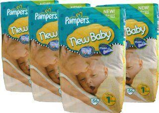 224 Pampers Windeln, New Baby, New Born, Gr.1, 2 5 kg, mit Urin Indikator (4x56): Drogerie & Körperpflege
