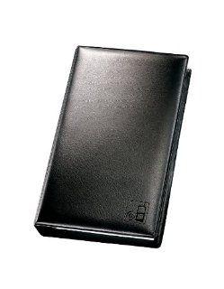 Sigel SO120 Telefon Ringbuch, Lederoptik, schwarz, f�r 220 Adressen, mit 20 Einlagen, 10 Visitenkartenh�llen, Register A Z, Kunststoff, f�r bis zu 60 Karten (max. 90x65 mm): Bürobedarf & Schreibwaren