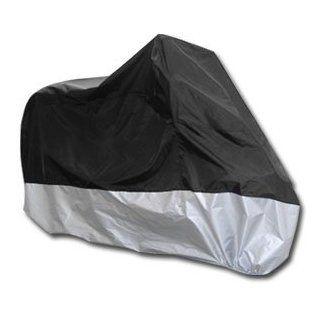 Gr. xL Motorrad Ganzgarage Abdeckplane Faltgarage Plane Wasserdicht Roller 245x105x125cm Tasche schwarz silber Auto
