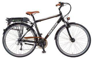 Stratos Herren E Bike Alu Trekking Entdecker 4.1, glanzschwarz, Rahmenh�he: 52 cm, Reifengr��e: 28 Zoll (71 cm), 51052: Sport & Freizeit
