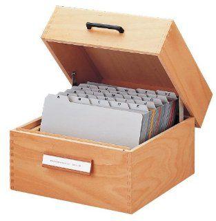 HAN 505 Karteikasten aus Holz f�r maximal 900 Karten A5 quer, 255 x 190 x 250 mm Bürobedarf & Schreibwaren