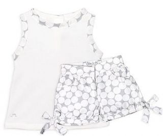 french design polka dot shorts and top set by chateau de sable