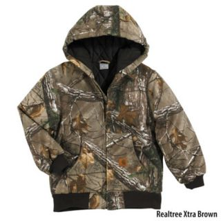 Carhartt Boys Work Camo Active Jac Flannel Lined Jacket 731022
