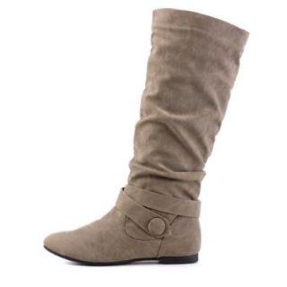 Damen Schuhe, STIEFEL, WARM GEF�TTERT, 867 10, Synthetik in hochwertiger Leder Optik, Grau Braun, Gr 36 Schuhe & Handtaschen