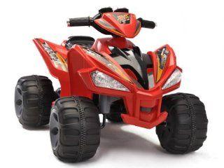 QUAD ATV 4 Wheeler Ride On Power 2 Motors 12V Traction Power Wheels For Kids RED Toys & Games