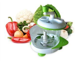 Verano� Universal Hand Powered Food Chopper / Manual Food Processor is Perfect Onion Chopper / Salad Maker. Quick and Easy Salsa Maker / Meat Slicer. Simply Put Your Vegetables, Fruits, Herbs, Boneless Meats or Ice in the Universal Hand Powered Food Choppe
