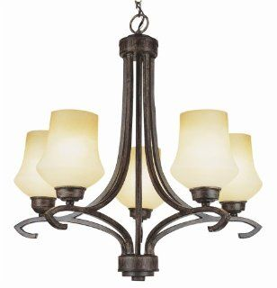 Trans Globe Lighting 6185 ABZ Five Light Up Lighting Chandelier from the New Century Collection, Antique Bronze