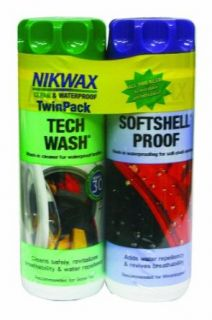 Nikwax Tech Wash & Softshell Proof Duo Pack, 10 fl. oz : Hunting Cleaning And Maintenance Products : Clothing