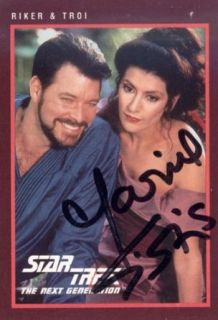 Marina Sirtis Autographed / Signed 1991 Paramount No.272 Star Trek Card   Signed Index Cards Marina Sirtis Entertainment Collectibles