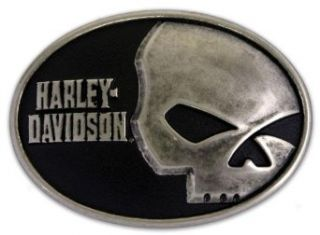 Harley Davidson Mens Collector Belt Buckle Skull Font. M10071: Clothing