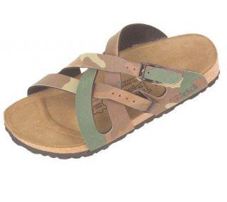 Birkenstock Camouflage Print Cross Strap Comfort Sandals —