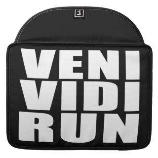 Funny Running Quotes Jokes : Veni Vidi Run Sleeve For MacBooks