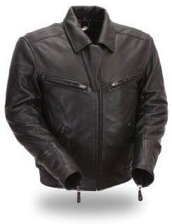 XPERT PERFORMANCE   Mens Bronson Hybrid Leather Motorcycle Jacket W/ 3 Level ARMOR (XL) XPM285NKDZ: Automotive