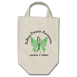 Grunge Tattoo Butterfly 6.1 Kidney Disease Tote Bag