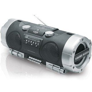 Coby CX CD282 Portable CD/Radio/Stereo Cassette Player/Recorder with Powered Woofer  Boomboxes   Players & Accessories