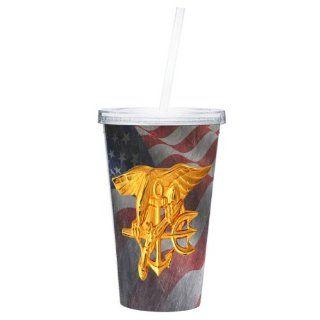 Navy Seals Drink Tumbler Navy Seals Mugs Navy Gifts US Navy Seals 16OZ (SEALS4)