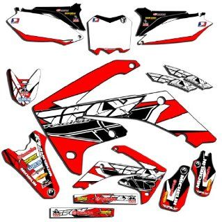 Senge Graphics 1990 1992 Honda CR 125/250R 2013 Fly Red Graphics Kit: Automotive