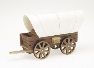 Darice 9181 24 Wooden Model, Cover Wagon Kit   Childrens Wood Craft Kits