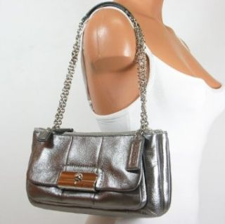 Coach Kristin Leather Willow Shoulder Hobo Bag Purse Tote 16818 Gunmetal Clothing