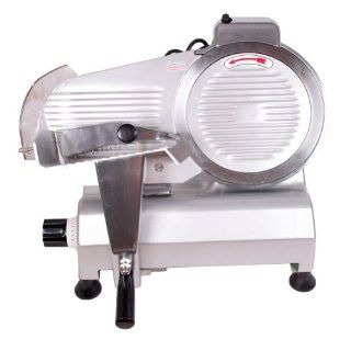 """Sanven Food and Meat Slicer Electricl Semi Automatic 10"""" Blade Simple Structure Convenient to Use Ham Bread Vegetable Fruit Slicing On off Switch with Waterproof Cover for Easy Use: Kitchen & Dining"""