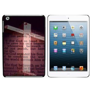 Cross and Bible Verse John 3 16 For God So Loved the World Snap On Hard Protective Case for Apple iPad Mini   Black Computers & Accessories
