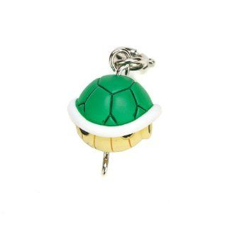 Mario Kart 7 Item Collection Charm Keyring Keychain   Green Turtle Shell: Toys & Games
