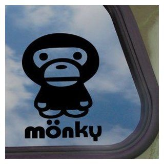 Anime Monkey Cartoon Black Decal Car Truck Window Sticker   Automotive Decals