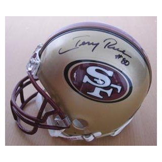 Jerry Rice San Francisco 49ers Signed Mini Helmet: Sports Collectibles