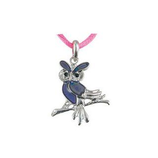 Owl Mood Pendant Necklace   Animal Mood Jewelry (Owl)