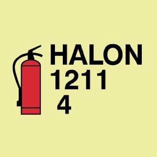SIGNS SYMBOL FIRE EXTINGUISHER HALON: Home Improvement